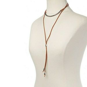🍒NWT🍒 BOHO CHIC FAUX SUEDE NECKLACE
